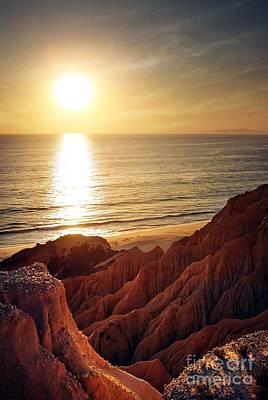 Sunset Beach Poster by Carlos Caetano