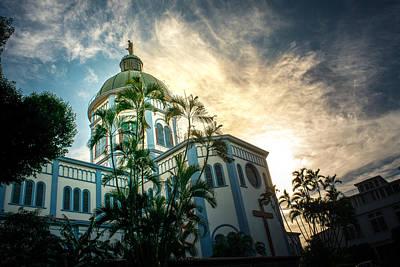 Sunset Iglesia Maria Auxiliadora - San Salvador Poster by Totto Ponce