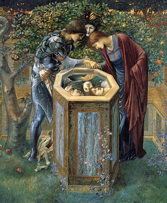 The Baleful Head Poster by Edward Burne-Jones