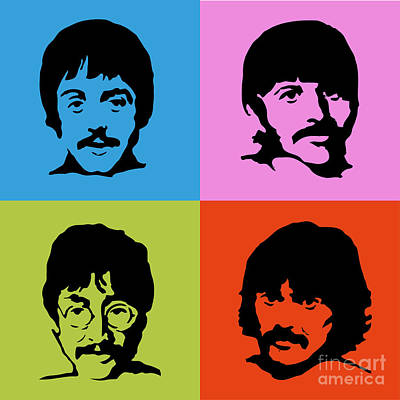 The Beatles Colors Poster by Caio Caldas