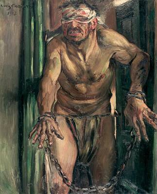 The Blinded Samson Poster by Lovis Corinth