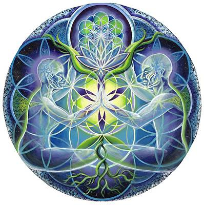 The Flowering Of Divine Unification Poster by Morgan  Mandala Manley