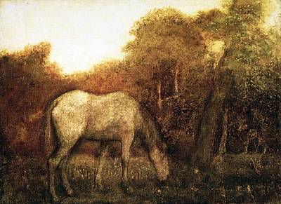The Grazing Horse Poster by MotionAge Designs