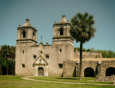 The Historic Mission Concepcion In San Antonio Poster by Mountain Dreams