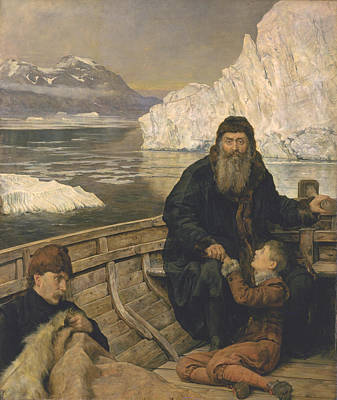 The Last Voyage Of Henry Hudson Poster by John Collier