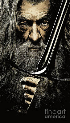 The Leader Of Mankind  - Gandalf / Ian Mckellen Poster by Prarthana Kulasekara