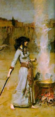 The Magic Circle Poster by John William Waterhouse