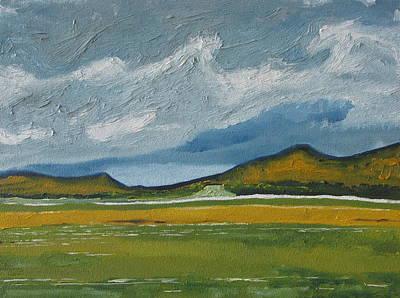 The Orange Mountains Poster by Francois Fournier