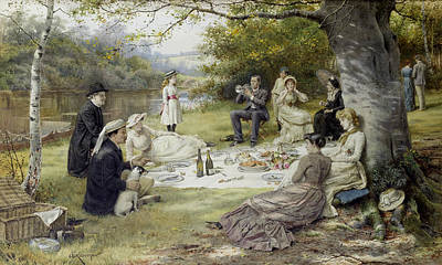 The Picnic Poster by George Goodwin