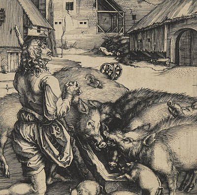 The Prodigal Son Poster by Albrecht Durer or Duerer