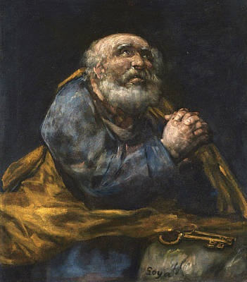 The Repentant St Peter Poster by Francisco Goya