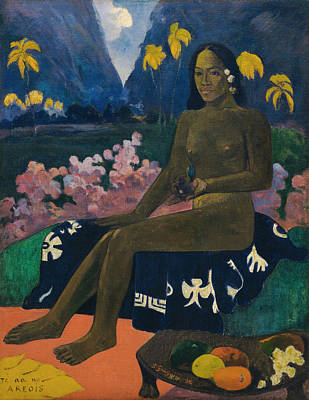 The Seed Of The Areoi Poster by Paul Gauguin