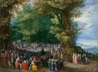 The Sermon On The Mount Poster by Jan Brueghel the Elder