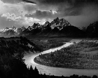 The Tetons And Snake River - Wyoming Poster by Mountain Dreams