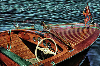 The Vintage 1958 Chris Craft Poster by David Patterson