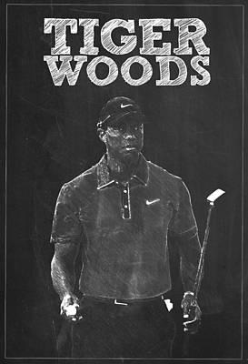Tiger Woods Poster by Semih Yurdabak