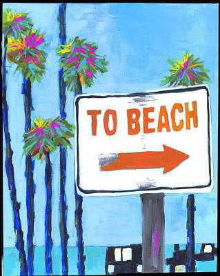 To The Beach Poster by Debbie Brown
