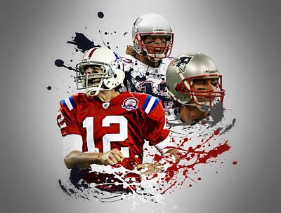 Tom Brady Patriots Poster by Joe Hamilton