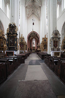 Torun Cathedral Interior In Poland Poster by Artur Bogacki