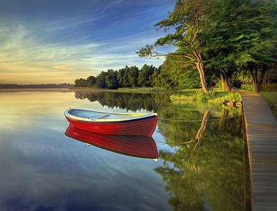 Tranquil Reflection Poster by James Charles