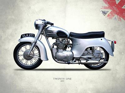 Triumph Twenty One 1957 Poster by Mark Rogan