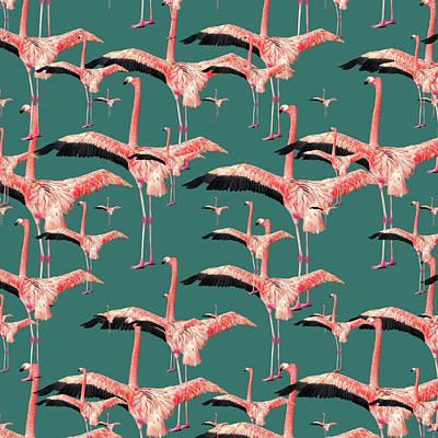 Tropical Flamingo  Poster by Mark Ashkenazi