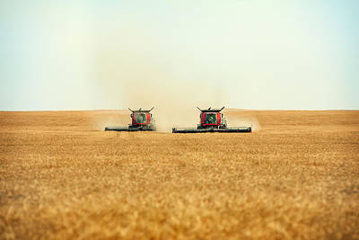 Twin Combines Poster by Todd Klassy