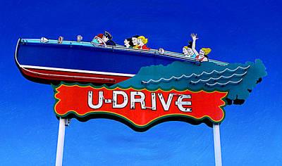 U-drive Poster by Ron Regalado