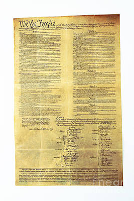 U.s Constitution Poster by Photo Researchers, Inc.