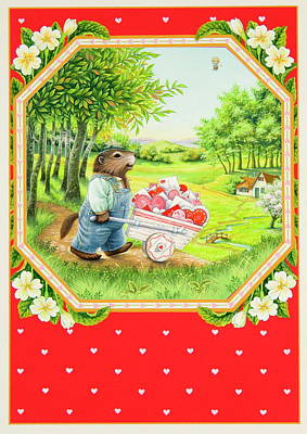 Valentine Delivery Poster by Lynn Bywaters