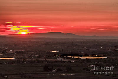 Valley Sunset Poster by Robert Bales