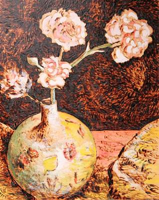Vase With Flowers Poster by Richard Jules