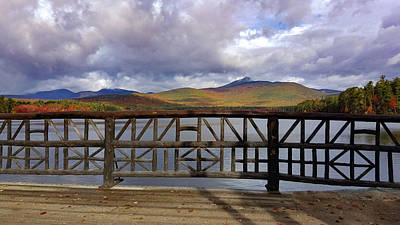 View Of Mount Chocorua In Fall Foliage Poster by Jeff Folger