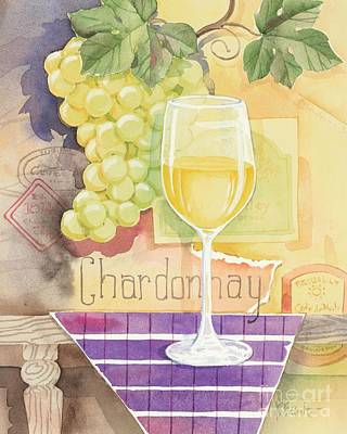 Vintage Chardonnay Poster by Paul Brent