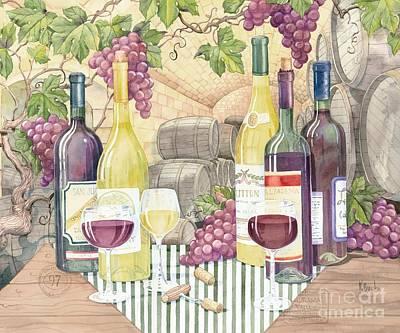 Vintage Wine II Poster by Paul Brent