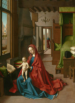 Virgin And Child In A Domestic Interior Poster by Petrus Christus