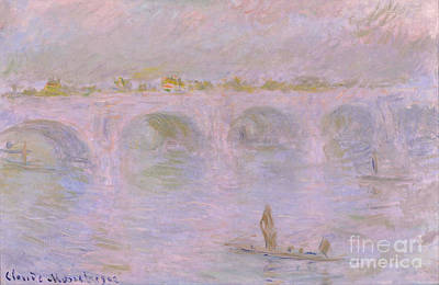 Waterloo Bridge In London Poster by Claude Monet