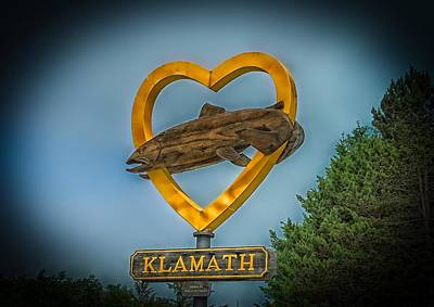 Welcome To Klamath California Poster by Mountain Dreams