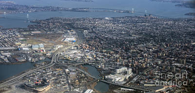 Whitestone Queens Aerial Photo In New York City Poster by David Oppenheimer