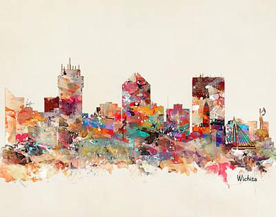 Wichita Kansas Skyline Poster by Bri B