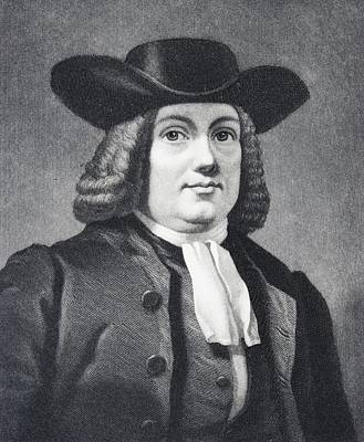 William Penn 1644 To 1718 English Poster by Vintage Design Pics