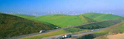 Wind Energy Windmills Along Route 580 Poster by Panoramic Images