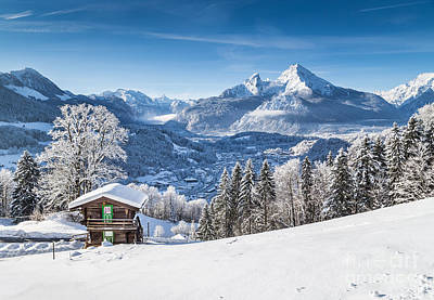 Winter In The Alps Poster by JR Photography