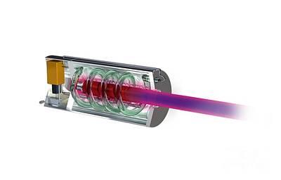 Worlds First Working Laser, Artwork Poster by Claus Lunau