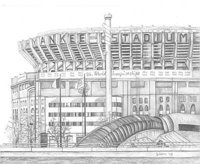 Yankee Stadium Poster by Juliana Dube