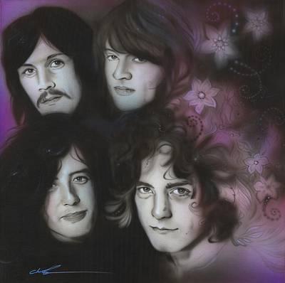 Led Zeppelin - ' Zeppelin ' Poster by Christian Chapman Art