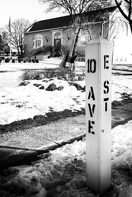 10 Ave And E St Belmar New Jersey Poster by Terry DeLuco