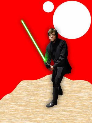 Star Wars Luke Skywalker Collection Poster by Marvin Blaine