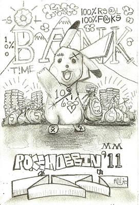 100 Percent Bank Poster by Robert Wolverton Jr