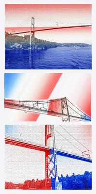 1000 Island International Bridge Triptych Poster by Steve Ohlsen